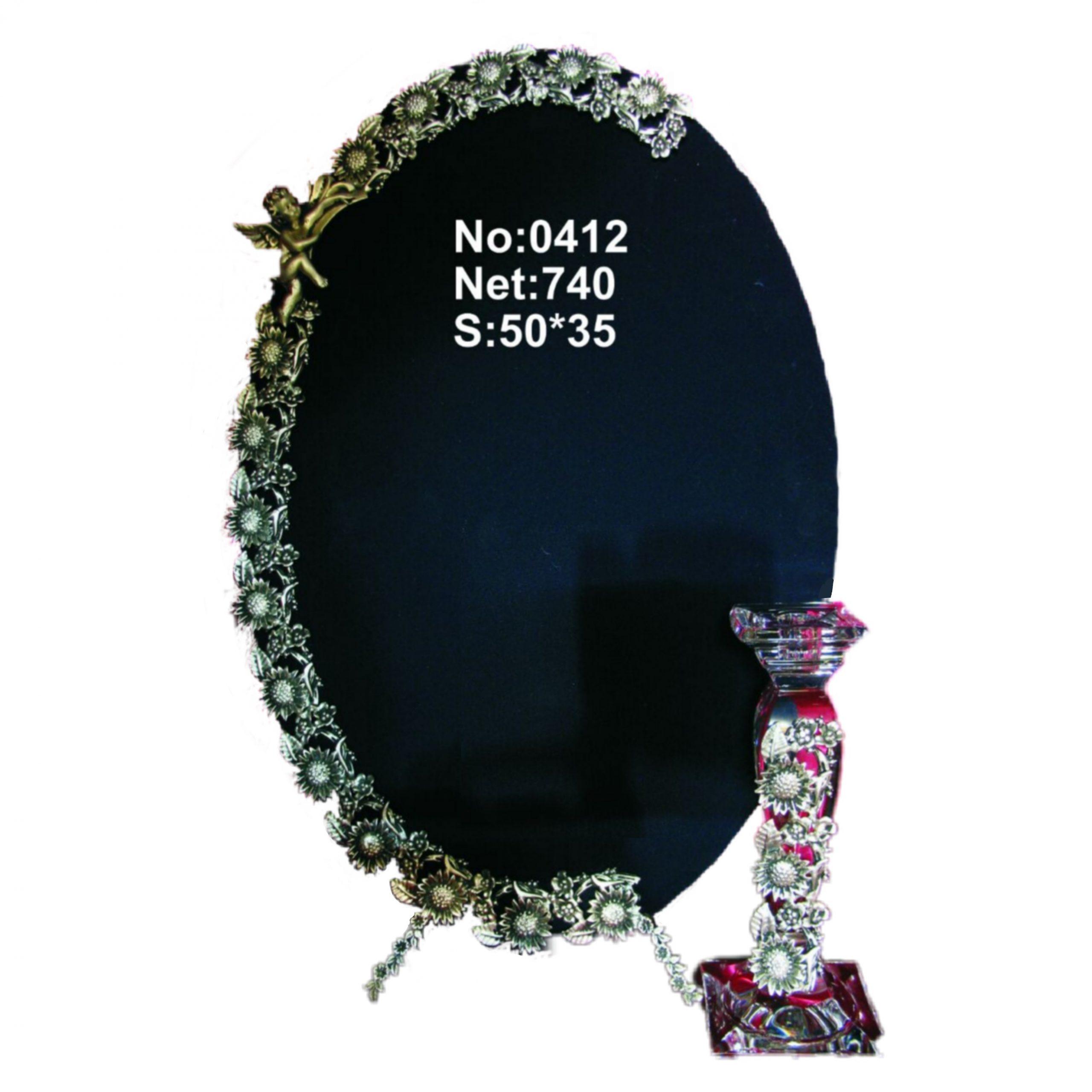 آینه و شمعدان برنزی